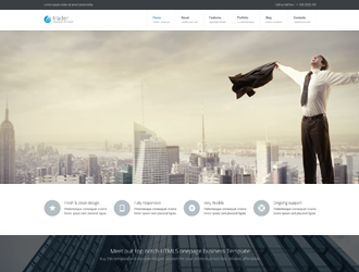 Trader business one page bootstrap template flashek Images