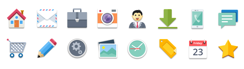 free flat business icons