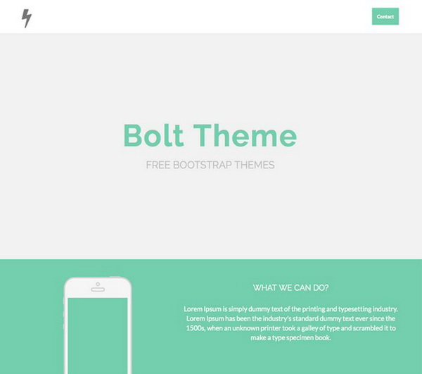 Bolt Flat One Page Theme