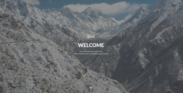 Glacial Responsive Under Construction Template