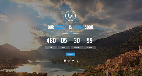 Laxy Responsive Coming Soon Template