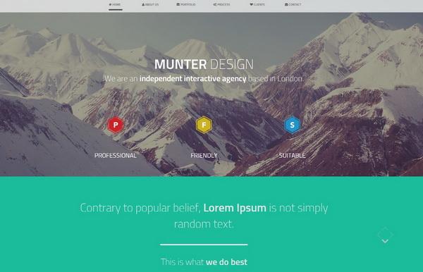 Munter Bootstrap Template