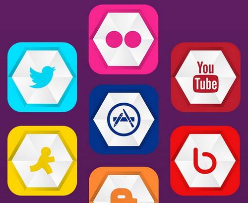 Noir Social Media Icons