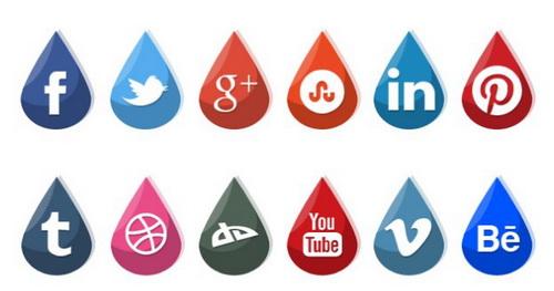 Socail Drops Icons