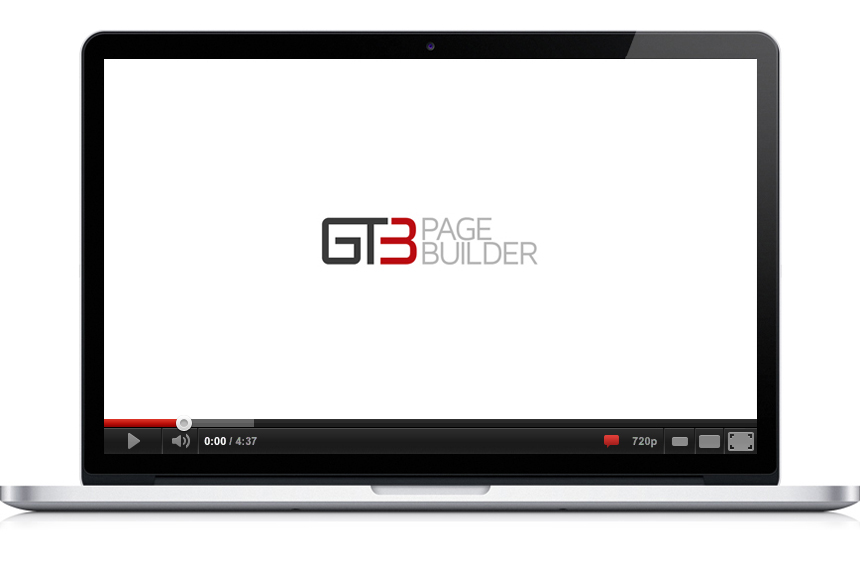 gt3 page builder plugin video