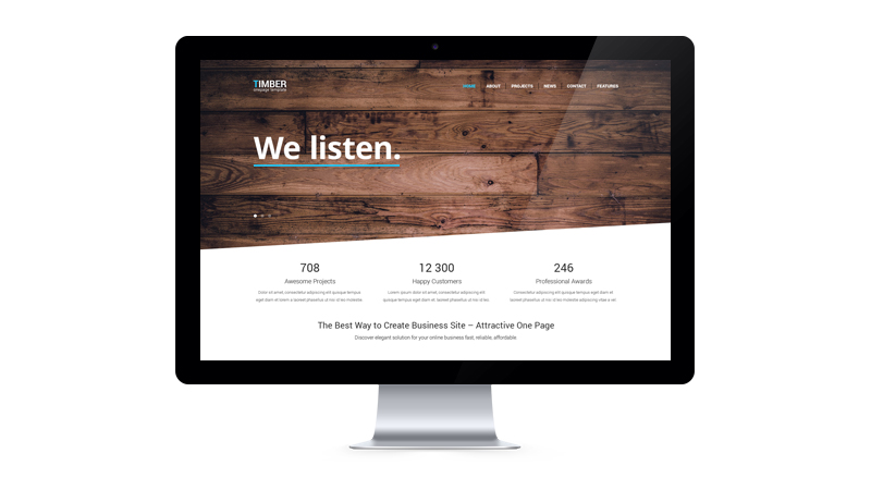 timber free PSD template