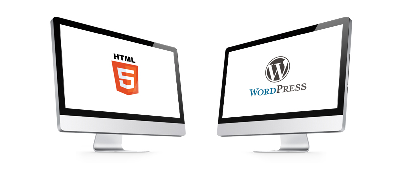Difference between WP and HTML - featured