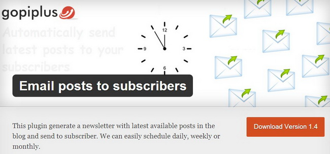 Email Posts to Subscribers Plugin