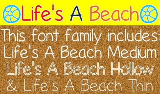 Life's A Beach Font