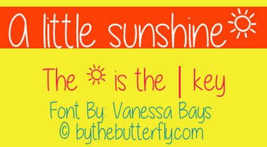 Little Sunshine Font