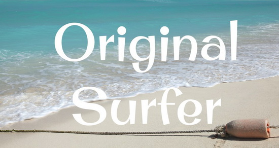 Original Surfer Font