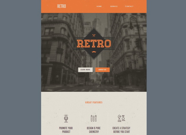 Retro Web Template