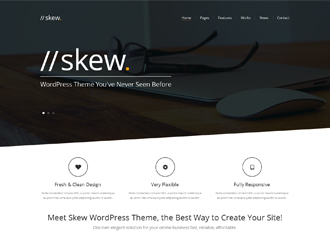 skew wordpress theme