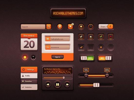 Caramel Free UI Kit