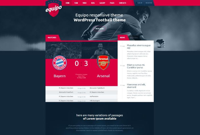 Equipo Responsive WordPress Theme