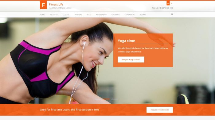 Fitness Life GymFitness WordPress Theme