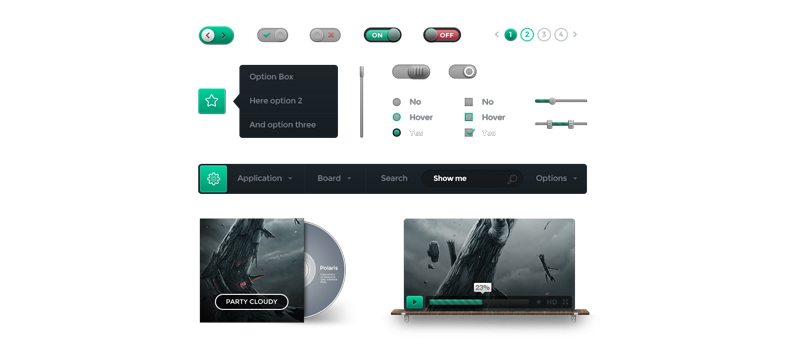 Free and Premium Web UI Kits - featured