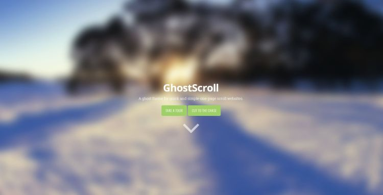 GhostScroll Theme