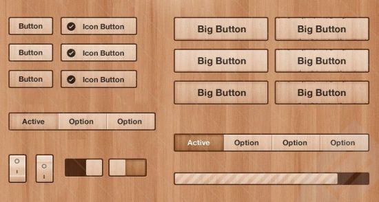 Got Wood UI Design Elements