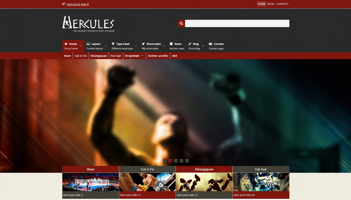 Hercules WordPress Theme – The Strongest Sport Magazine