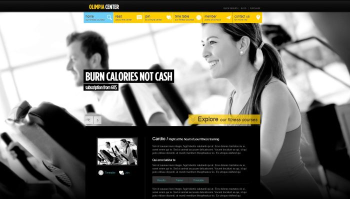 Olimpia - Fullscreen WordPress Fitness Center