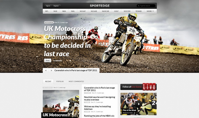 Sportedge WordPress Theme