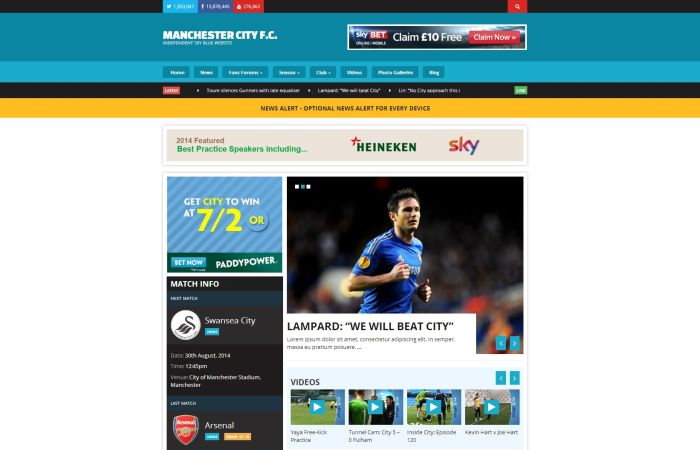 Sports Responsive WordPress Theme