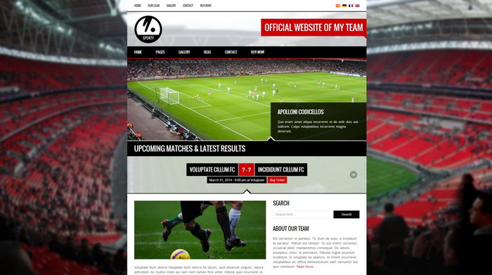 Sporty - Responsive WordPress Theme for Sport Clubs