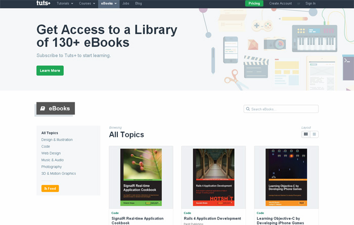 eBooks from Tuts+
