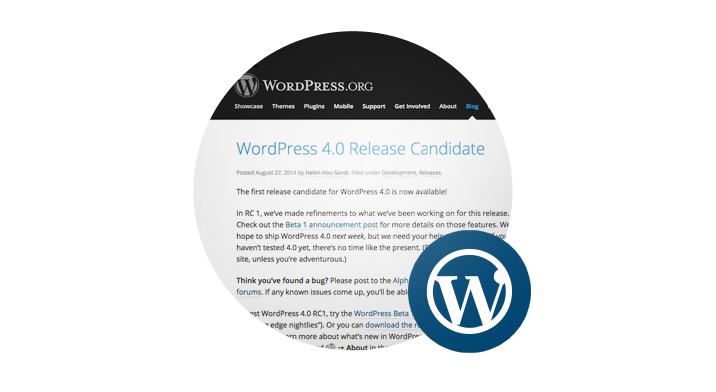 WordPress 4.0 Release Candidate - featured