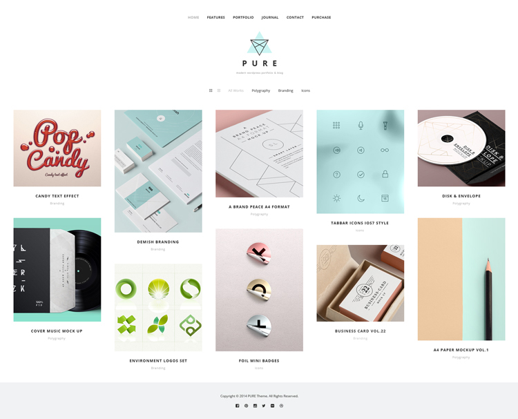 Free Pure WordPress Theme