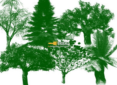 Green Trees Brush Set