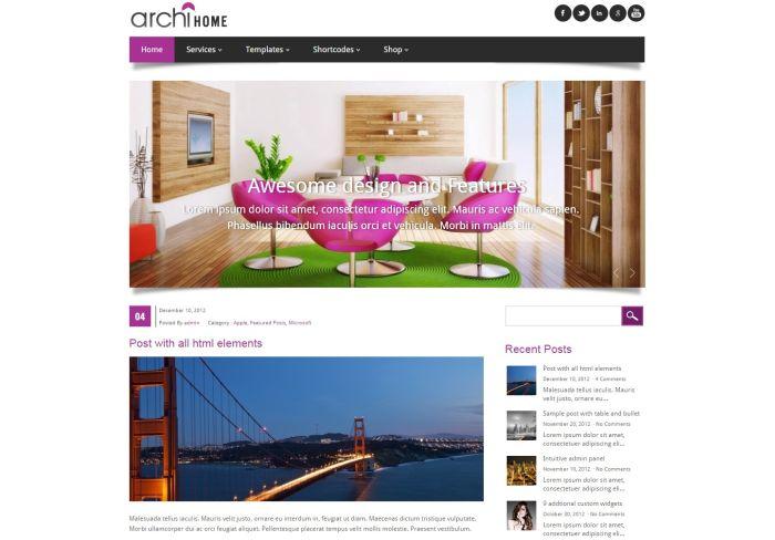 Archihome WordPress Theme