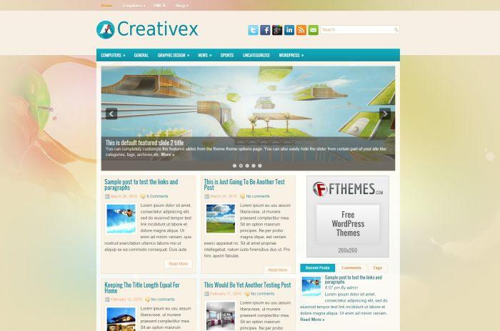 Creativex WordPress Theme