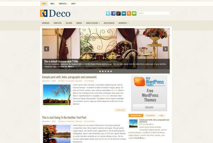 Deco WordPress Theme