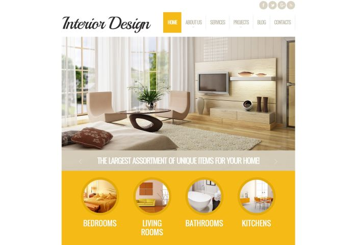 Elegant Interior Design WordPress Theme