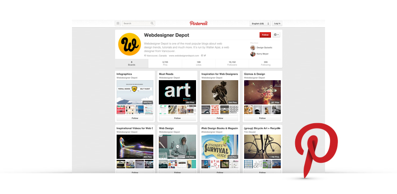Find More Inspiration with Web Design Pinterest Boards - featured