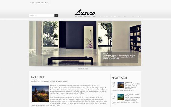 Luxero WordPress Theme
