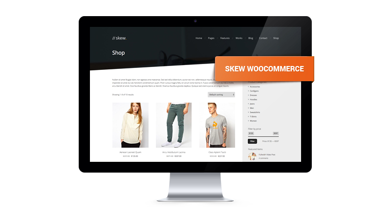 Skew WooCommerce Theme - featured