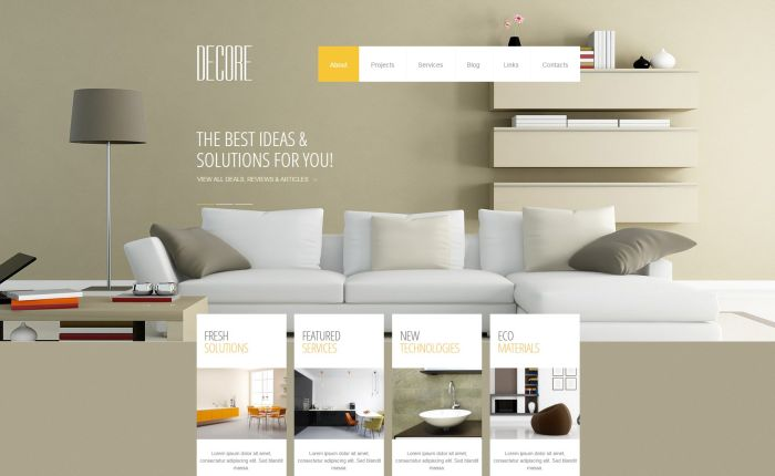 Interior design wordpress themes free and premium gt3 for Interior design theme ideas