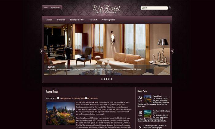WpHotel WordPress Theme
