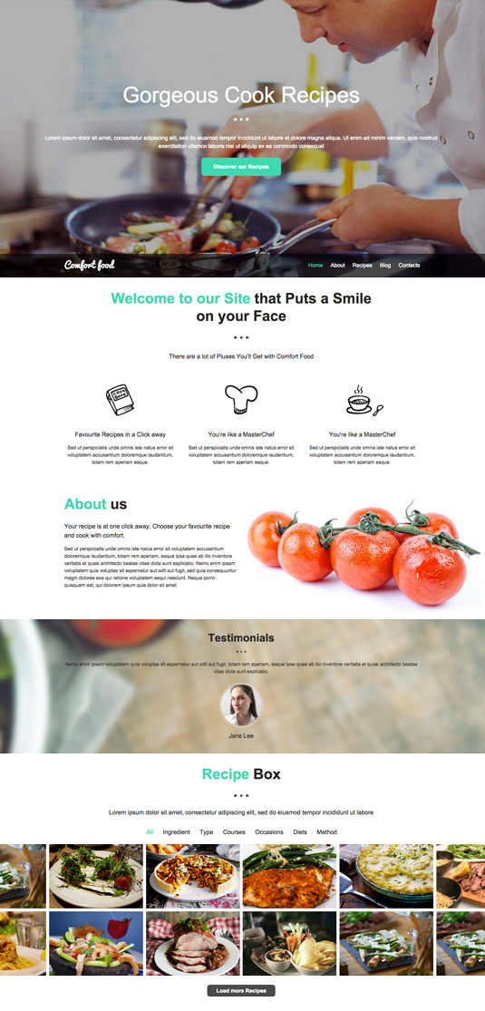 Cook Recipes Website Template