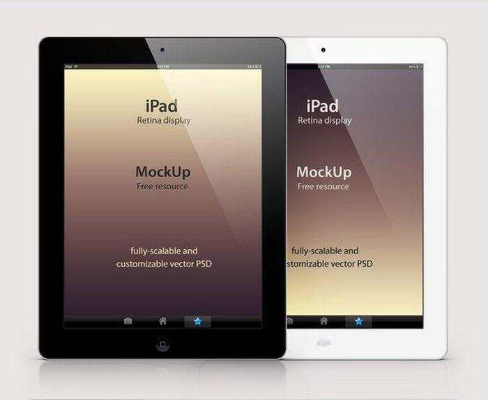 iPad Retina Mockup