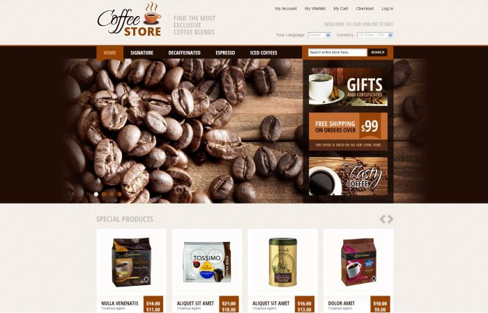 Coffe Supply Magento Theme