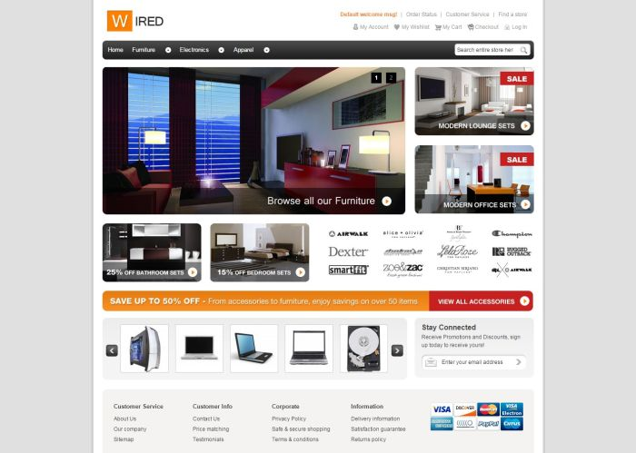 HelloWired Magento Theme