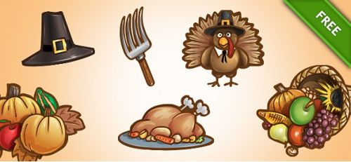 Psd Thanksgiving Set 1