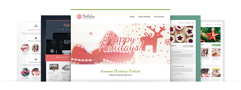 Special Offer from GT3Themes - Newsletter Templates Bundle for Coming Christmas