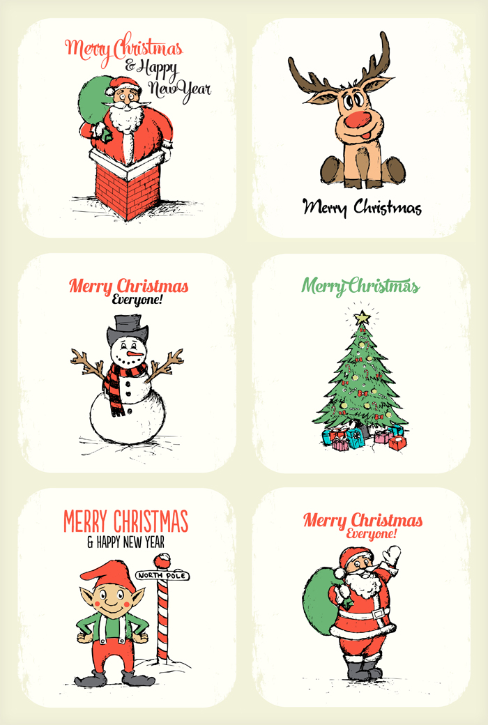 hand drawing xmas illustrations