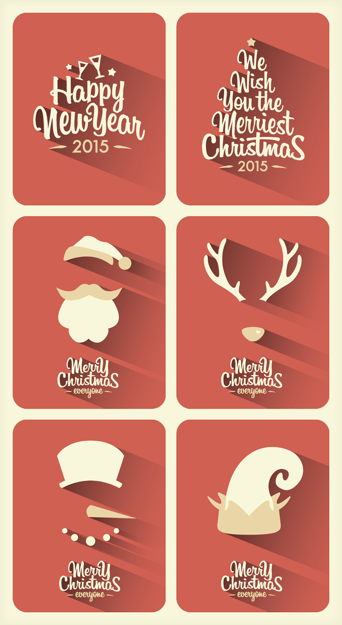 minimal christmas backgrounds with shadows