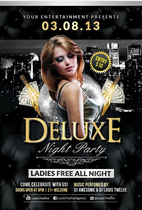 Delux Night Flyer Template